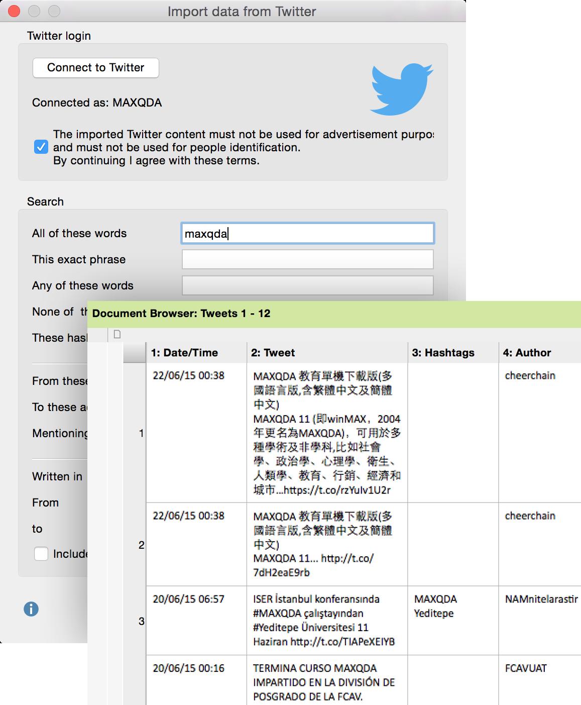 Twitter-import