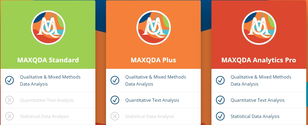 MAXQDA 2020 比較表