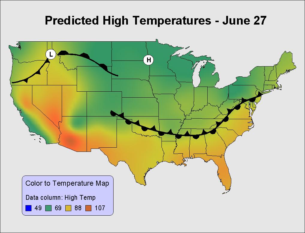 溫度分布圖