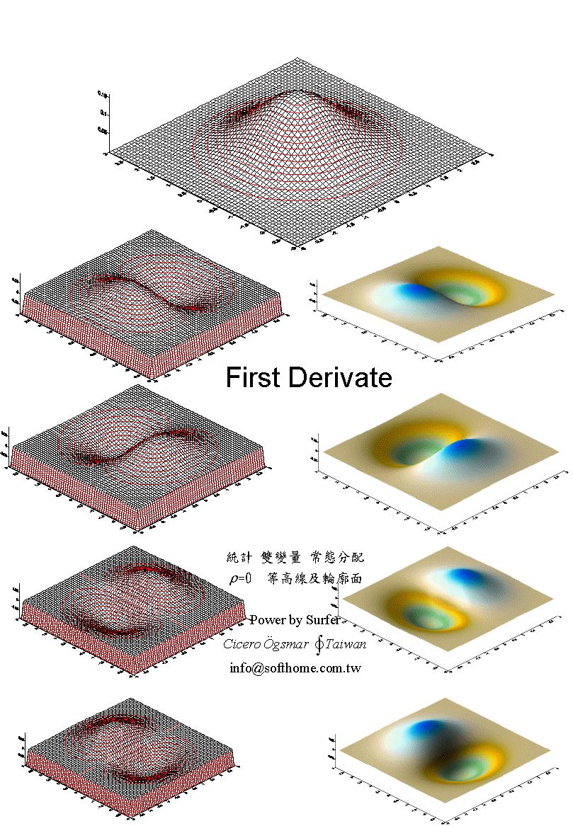 双變量 常態分配 立體圖 微分