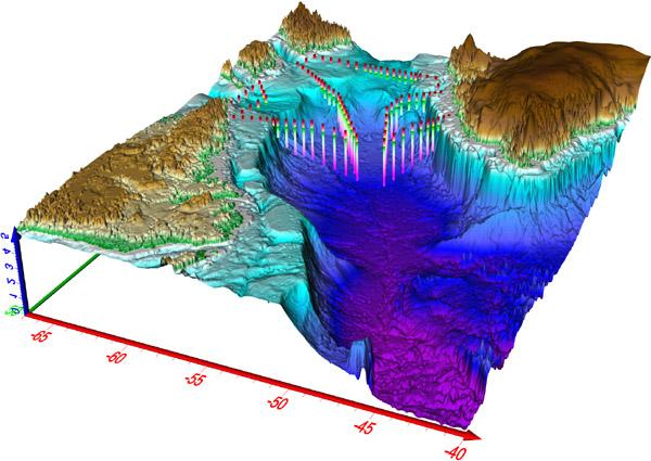 範例  海床細部圖