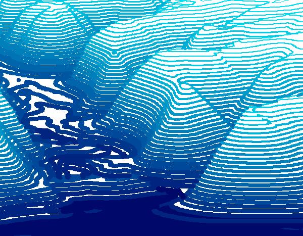 密西西比河入海時的峭壁圖